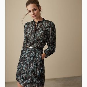Reiss Miriam Metallic Stripe Dress NWT size 8 US